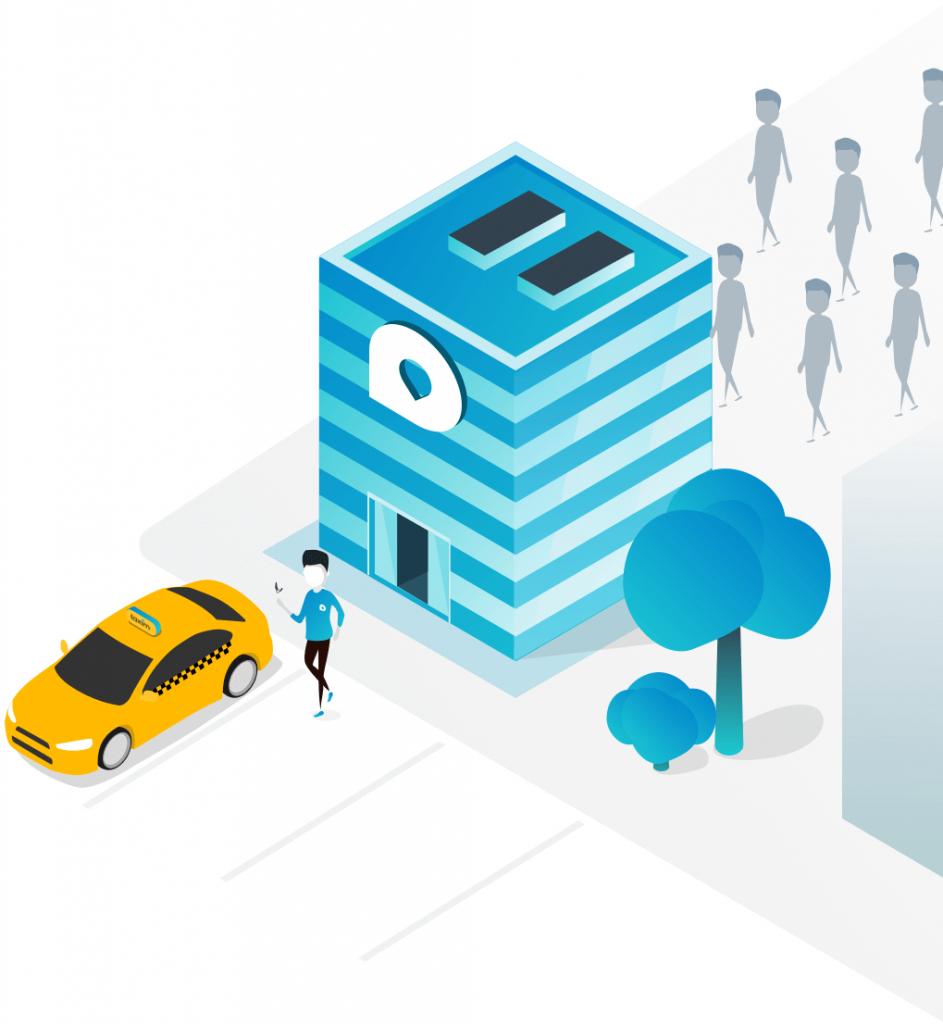 Taxi város rendelés autó sofőr utas applikáció app budapest hősök tere lánchíd központ emberek fa